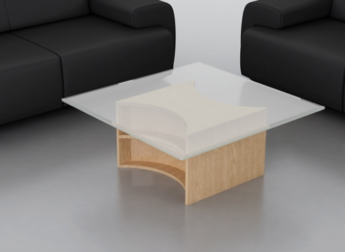 Remington glass top designer coffee table