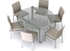 Marco round Glass Designer Dining Room Table