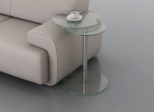 Coco side table glass metal furniture