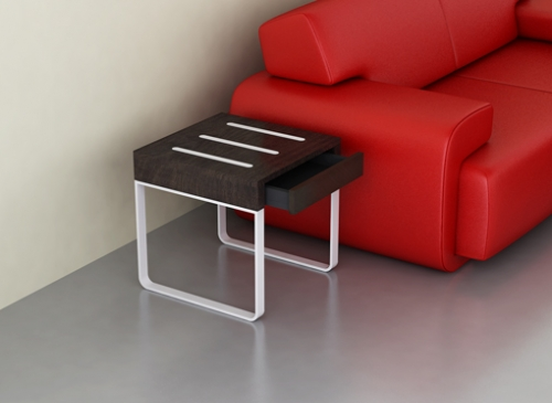 Evoque side table wood metal furniture