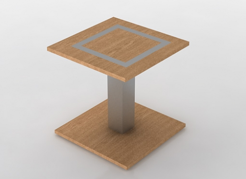 Houston side table wood metal furniture